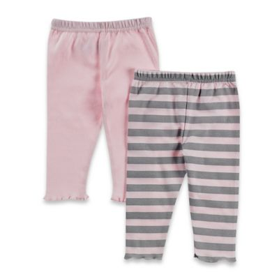Solid Pink/Grey and Pink Stripe
