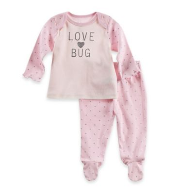 Sterling Baby Size 9M 2-Piece PJ Top and Footed Pant Set