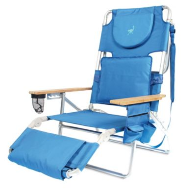 Ostrich 3-in-1 Deluxe Beach Chair in Red