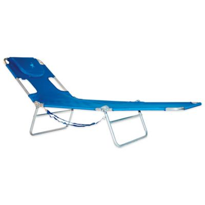 Ostrich Chaise Lounge Beach in Blue
