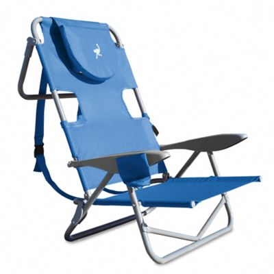 Ostrich Reclining Beach Chair in Blue