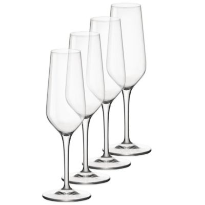 Bormioli Electra 7-3/4 oz. Toasting Flutes (Set of 4)