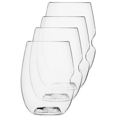 Govino Stemless Red Wine Glasses (Set of 4)