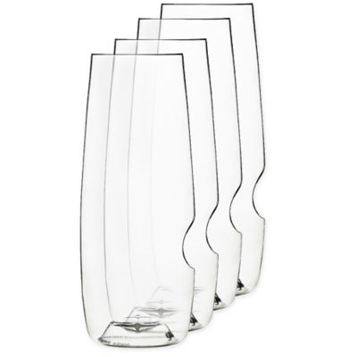 Govino Stemless Toasting Flutes (Set of 4)