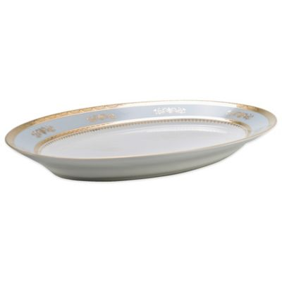 Philippe Deshoulieres Orsay Oval Platter in Powder Blue