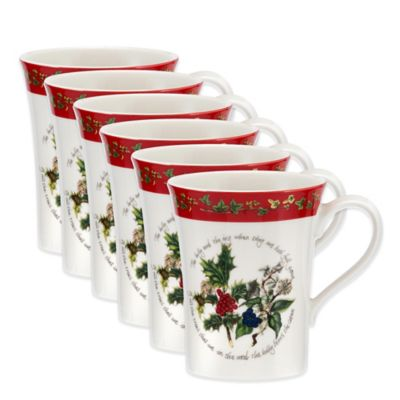 Portmeirion® Holly & Ivy Mandarin Mug (Set of 6)