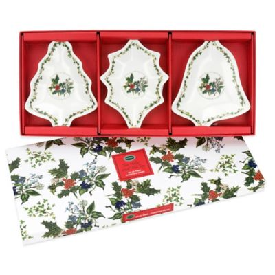 Portmeirion® Holly & Ivy Christmas Dishes (Set of 3)