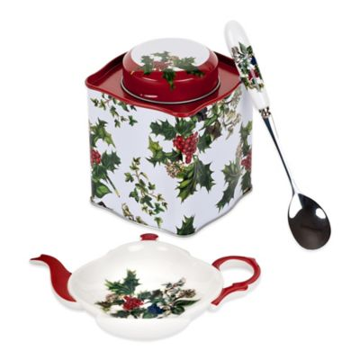 Portmeirion® Holly & Ivy 3-Piece Tea Set