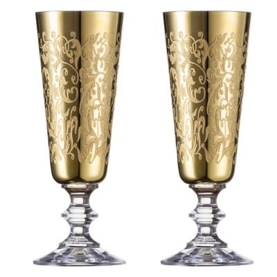 Gold Champagne Glasses Flutes