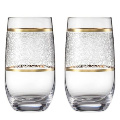 Carezza Tumbler Slim Glasses (Set of 2)