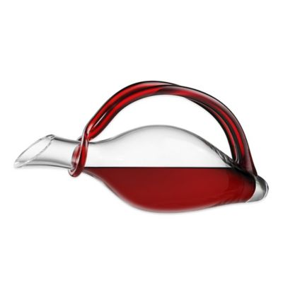 Eisch Duck Decanter with Red Handle