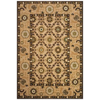 Feizy Border Circles 7-Foot 6-Inch Round Indoor/Outdoor Rug in Tan/Brown