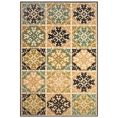 Feizy Diamond Tiles 5-Foot x 7-Foot 6-Inch Indoor/Outdoor Rug in Sand/Brown