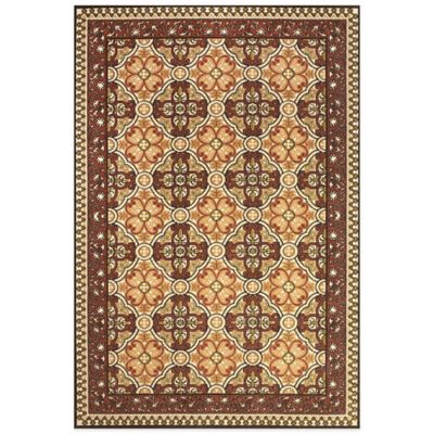 Feizy Tilework 5-Foot x 7-Foot 6-Inch Indoor/Outdoor Rug in Sand/Terracotta