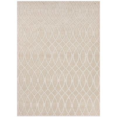 Jaipur Metro Curve Geometric 5-Foot x 8-Foot Area Rug in Ivory/White