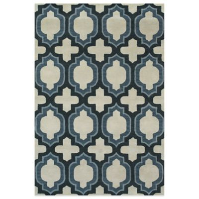 Feizy Trellis 2-Foot 6-Inch x 8- Foot Runner in Blue