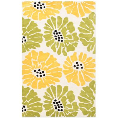 Jaipur Traverse Flora 2-Foot x 3-Foot Rug in Green/Yellow