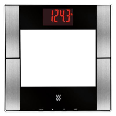 Weight Watchers® Glass Digital Body Analysis Red LED Bathroom Scale by Conair™