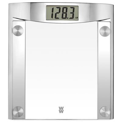 Weight Watchers® Digital Glass Bathroom Scale with Polished Chrome Frame by Conair®