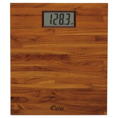 Weight Watchers® Teak Digital Bathroom Scale by Conair™