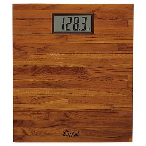 Weight Watchers 174 By Conair Teak Digital Bathroom Scale