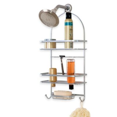 Buy Telescoping Corner Shower Caddy With Plastic Shelves