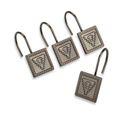 Allure Aztec Metal Shower Curtain Hooks in Oil Rubbed Bronze (Set of 12)