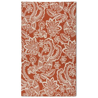 Naples Jacobean Floral 5-Foot x 7-Foot Indoor/Outdoor Rug