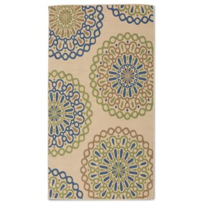 Miami Medallion 7-Foot x 10-Foot Indoor/Outdoor Rug