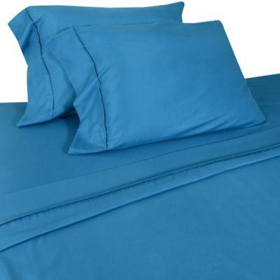 Micro Lush Microfiber Full Sheet Set in Blue