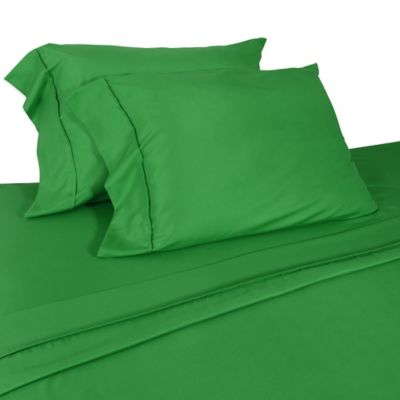 Micro Lush Microfiber Twin Sheet Set in Green