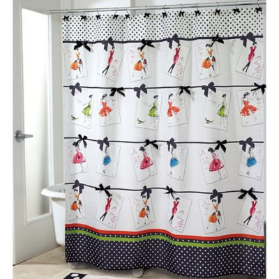 Avanti Couture Girls Shower Curtain