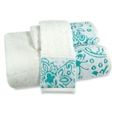 Bath Towels Floral Design