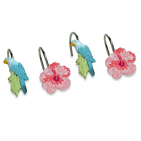 Bird Of Paradise Curtains Dog Paw Shower Curtain Hooks