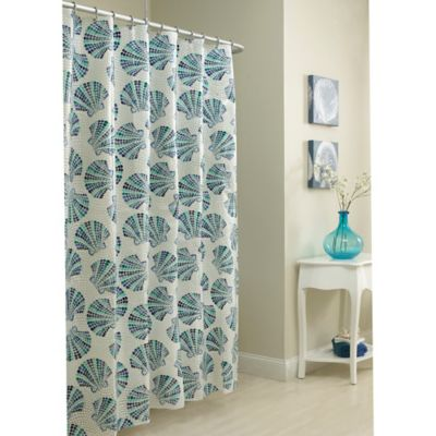 Yellow Print Shower Curtain Avanti Hampton Shells Shower