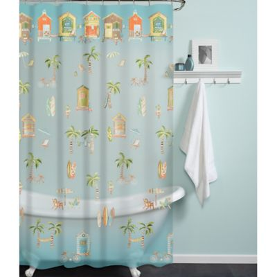 PEVA Cabana Beach Shower Curtain