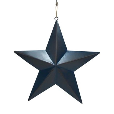 Metal Star Wall Plaque in Blue