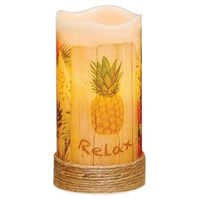 Pineapple Flameless Pillar Candle with LED and Timer