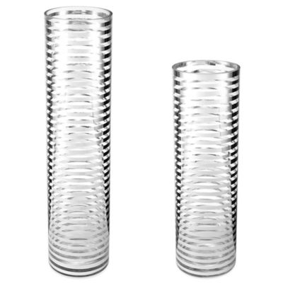 Mikasa Home Glass Tube Stripe 16-Inch Hurricane