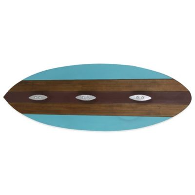 Wooden Surf Board Wall Towel Hook