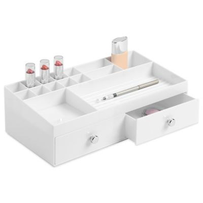 InterDesign® 2-Drawer Cosmetic Organizer in White