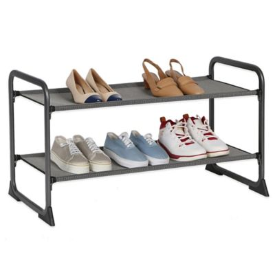 2-Tier Fabric Shoe Rack
