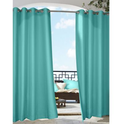 Commonwealth Home Fashions Gazebo 84-Inch Grommet Top Window Curtain Panel in Butter