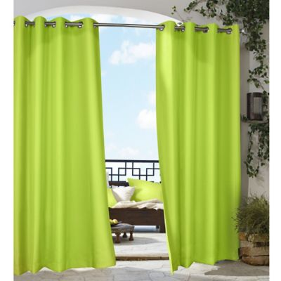 Commonwealth Home Fashions Gazebo 96-Inch Grommet Top Window Curtain Panel in Lime