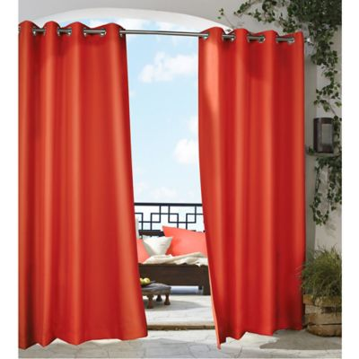 Commonwealth Home Fashions Gazebo 84-Inch Grommet Top Window Curtain Panel in Red