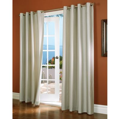 Horizon 84-Inch Insulated Blackout Grommet Top Window Curtain Panel in Oyster