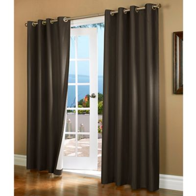 Horizon 84-Inch Insulated Blackout Grommet Top Window Curtain Panel in Charcoal
