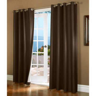 Horizon 84-Inch Insulated Blackout Grommet Top Window Curtain Panel in Brown
