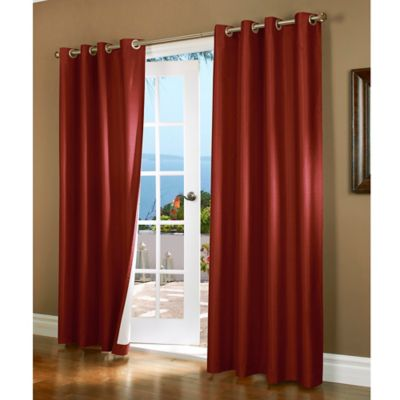 Window Curtains Red Design