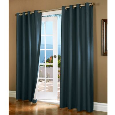 Horizon 84-Inch Insulated Blackout Grommet Top Window Curtain Panel in Blue